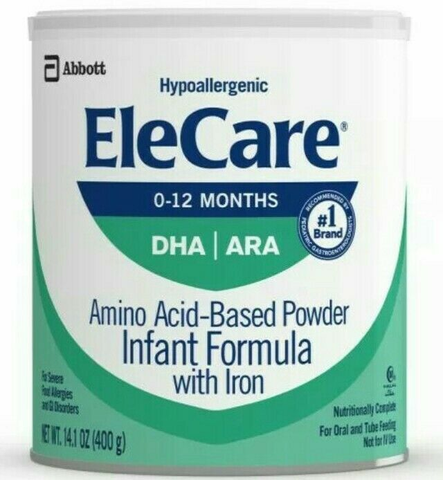 Elecare Infant 6 cans Hypoallergenic Formula Powder Exp 8/21 -  7/22 Free ship!