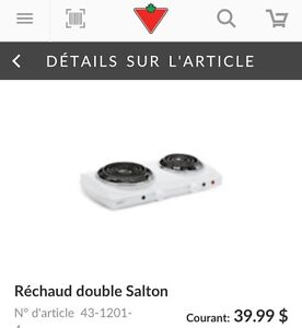 Portable cooktop réchaud portatif Salton