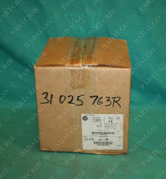 Allen Bradley, 1305-BA03A, AC Drive Motor VFD 380-460V 1HP NEW
