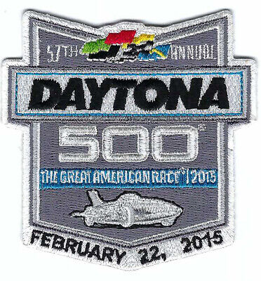 2015 Daytona 500 Racing Patch Vintage Embroidered Iron On