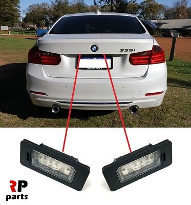 FOR BMW 3 SERIES F30 F31 F34 F35 11-17 REAR NUMBER PLATE LIGHT LED PAIR SET