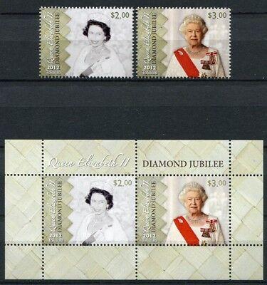 Tokelau 2012 Königin Elisabeth QE II Thronjubiläum Royalty 426-427 Block 47 MNH
