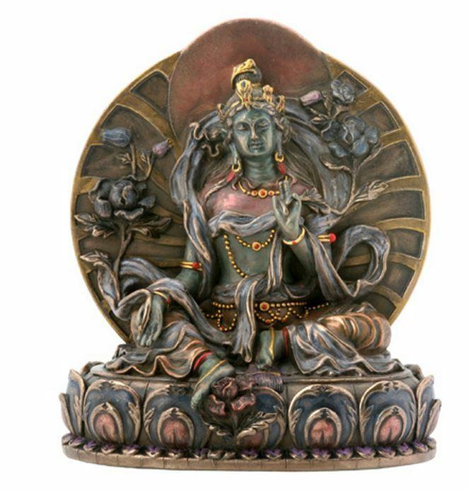 Small Green Tara Hindu Mahavidyas Great Wisdom Goddess Hinduism Figurine