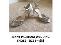 Jenny Packham Wedding Shoes - Size 5