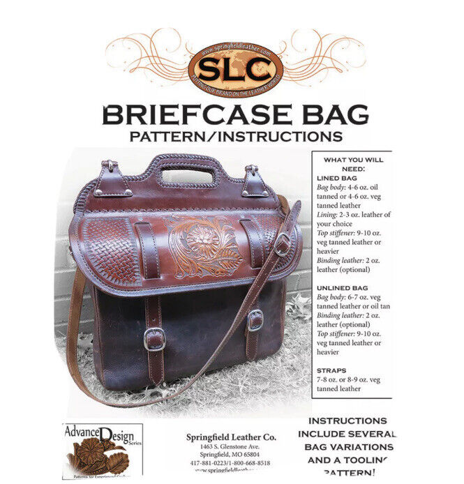 Springfield Leather Company Leather Briefcase Bag Pattern/Instructions