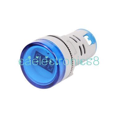 22mm Blue Ac60-500v Led Voltmeter Voltage Meter Indicator Pilot Light Ca