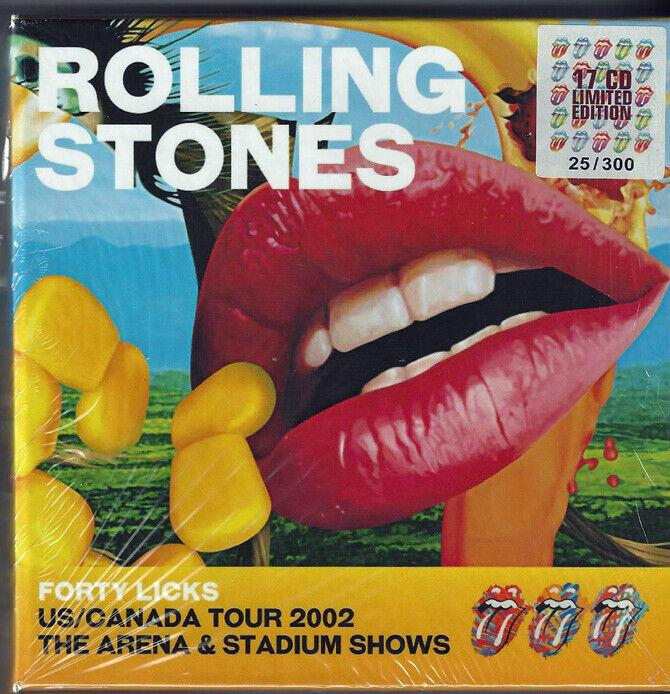 THE ROLLING STONES 40 LICKS US/CANADA TOUR 2002 BOX SET 17 CD s IMPORT  - $180.00