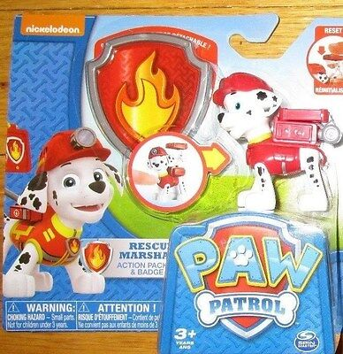 PAW PATROL RESCUE MARSHALL EMT PUP & BADGE NEW