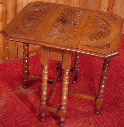 Antiek Engelse hangoor tafel Drop-leaf table sidetable eiken