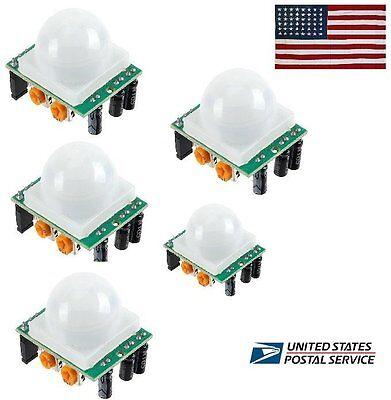 5 X Pyroelectric Ir Infrared Pir Motion Sensor Detector Module Hc-sr501 Arduino