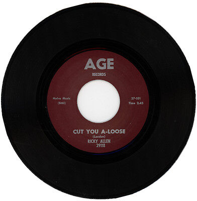 "RICKY ALLEN  ""CUT YOU A-LOOSE""   R&B ORIGINAL 1963 'MOD' VERSION    LISTEN!"