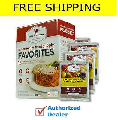 Wise Food Company Emergency Survival Freeze Dried Food Sample 16 serving