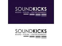 Soundkicks. LED Starlit Dancefloor, Photo Booth, LED Furniture, LOVE letters, Dj, Sound & Lighting