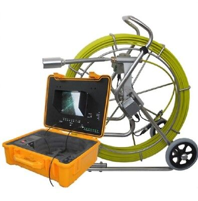 Sewer Drain Pipe 10 Lcd 300ft Cable  1.5 Inspection Video Camera 512 Hz Sonde