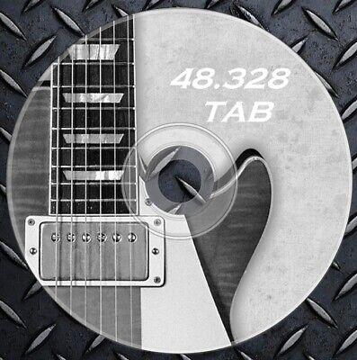 48.000 Tabulature Guitar Lead,rhythm - Folk, Blues, Jazz, Rock Heavy Collection
