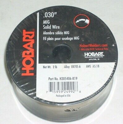 2 Hobart Er70s-6 Solid Mig Welding Wire .030 Dia 2 Lb Rolls For Gas 4 Total
