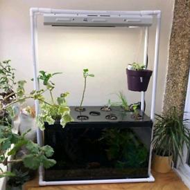 85L Hagen Fish Tank and Maxigrow T5 96W Florescent Growing Propagation
