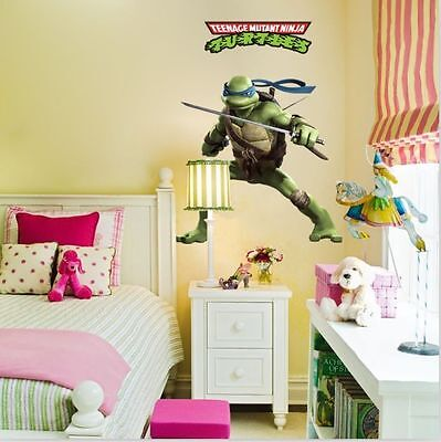 Teenage Mutant Ninja Turtles Vinyl Wall Stickers Decal Room Decor Movie UK ()