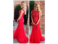 Stunning Floor Length Red Formal Dress