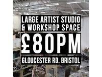 Workshop / Artist Studio just off gloucester rd