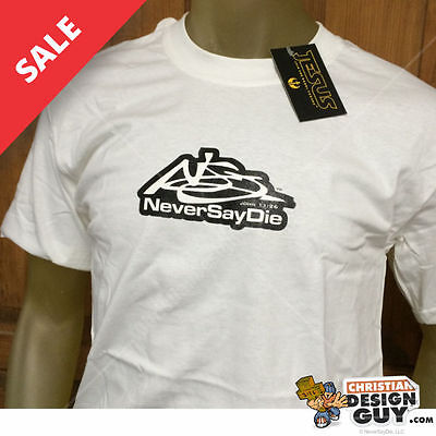 Christian Vintage T-shirts (Never Say Die Christian VINTAGE T-Shirt Graphic Religious Tee NWT)