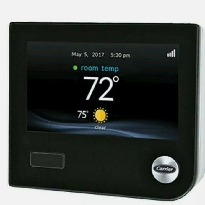 Carrier Infinity SYSTXCCITC01-B Touch Screen Programmable WiFi Thermostat (Black