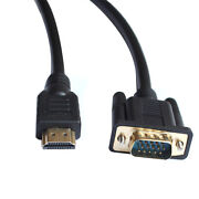 HDMI Male to VGA HD-15 Male Cable
