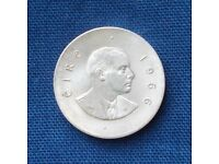 Irish ten shilling coin 1966 - silver - superb condition. Post free to UK addresses.