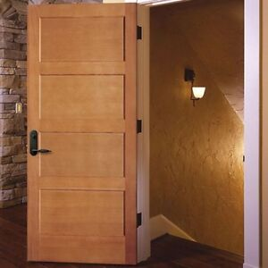 Custom solid wood interior doors and stair