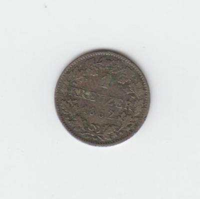 14)  Hessen - Darmstadt  1 Kreuzer 1862