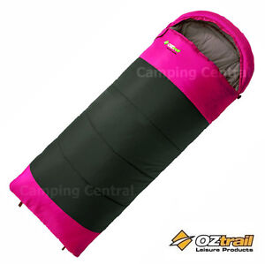 OZTRAIL-LAWSON-JUNIOR-PINK-HOODED-5Cel-KIDS-CHILDRENS-TEENS-SLEEPING-BAG