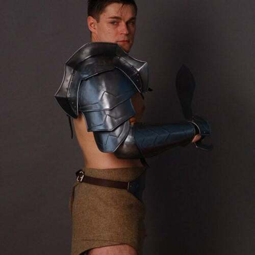 Medieval Larp Warrior Steel Gladiator Spartacus Pauldron With Bracers Shoulder