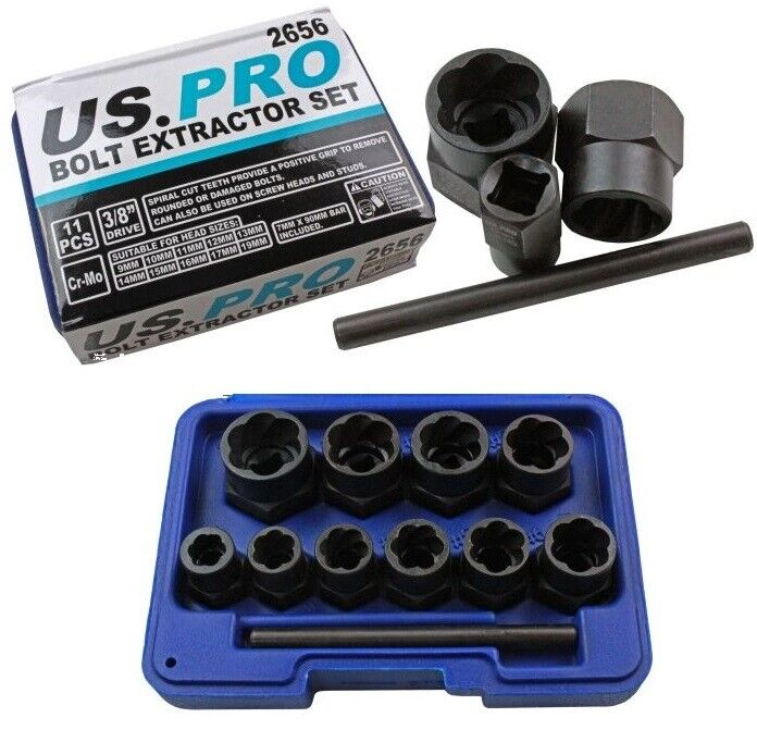 11pc Bolt Extractor Set US PRO 2656