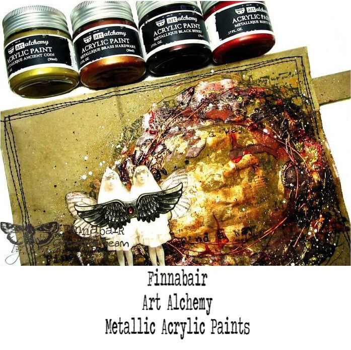 ART ALCHEMY METALLIQUE PAINTS BY FINNABAIR FOR PRIMA CHOOSE FROM 57 RICH COLORS