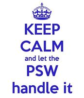 PSW looking for clients