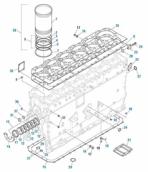 Piston Liner Seal O-Ring Kit for Caterpillar 3406E C15
