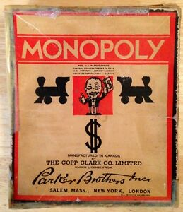 Antique 1950s Monopoly Game
