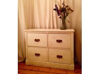 Shabby chic side board hall table drawers