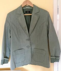 Marks and Spencer Green Linen Jacket