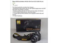 NIKON d5100 with lens ,mint condition