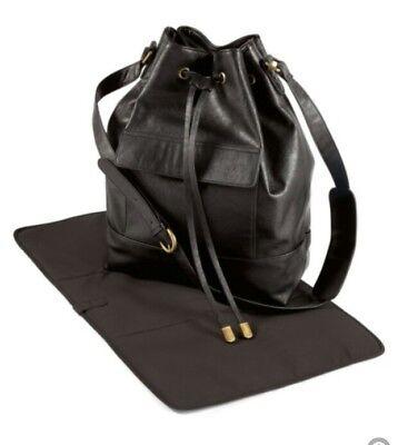 Mamas & Papas Hetty Changing Bag - BLACK Insulated Maternity Nappy Bag & Mat NEW