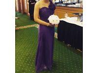 Purple size 10 bridesmaid dress