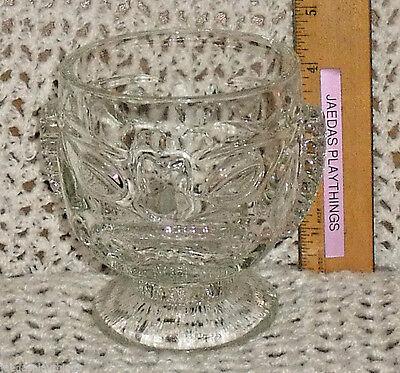 Tiki Mug Cup Vintage 2 Sides Happy Sad Footed Clear Glass Hawaiian 4.5