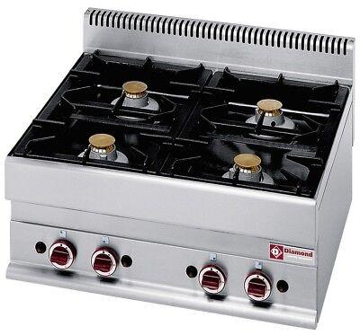 Modular Gasherd Tischgerät 17,2kW 4 Flammen 700x650x280mm Gastlando ()