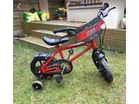 """Urban racer red and black 12"""" toddler bike rrp £50"""