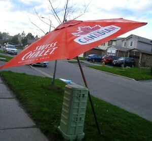 Large Quality 8' Molson Canadian & Swiss Chalet Patio Umbrella