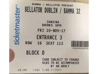 Bellator BMMA Dublin seating ticket
