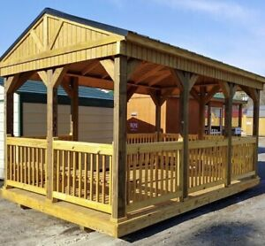 The CABANA - SHELTER  10'x12' up to 12'x24' Starting at $4775
