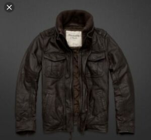 Abercrombie & Fitch men's leather jacket.