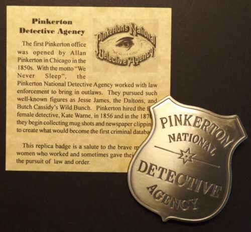 Pinkerton National Detective Agency Badge, Old West, western